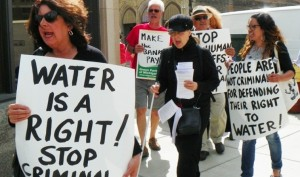 protest water